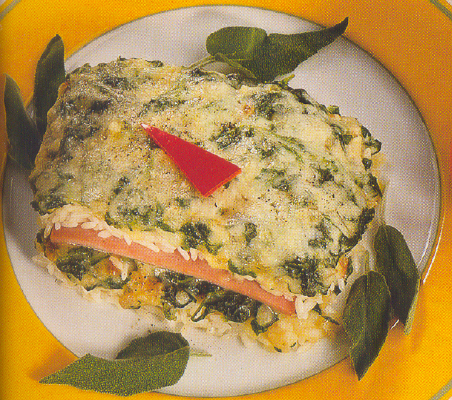 Rice and  Ham  Florentine