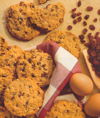 Oatmeal Cookies  and Raisin