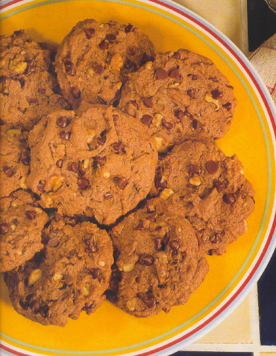Chocolate cookies  and  chocolate chip