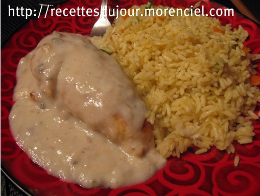 Chicken with cream of mushroom soup