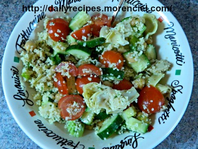 Couscous VEGETABLE SALAD AND CHICK PEAS