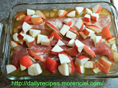 Perfect tenderloin with apple