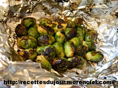 Brussels sprouts on BBQ